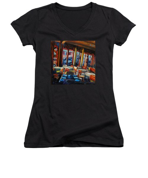 Restaurant On Columbus Women's V-Neck (Athletic Fit)