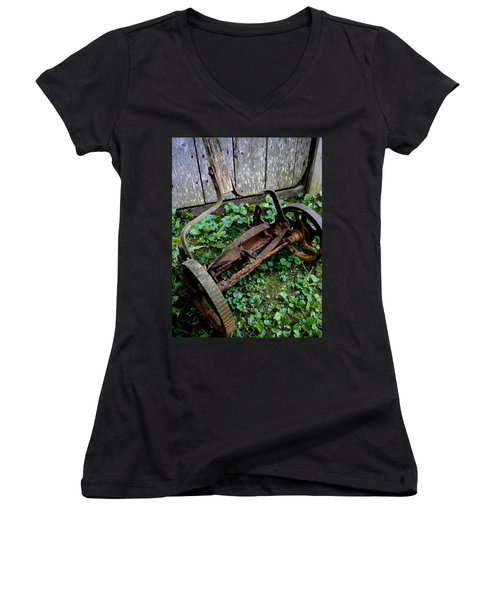 Retired Women's V-Neck T-Shirt (Junior Cut) by Renate Nadi Wesley