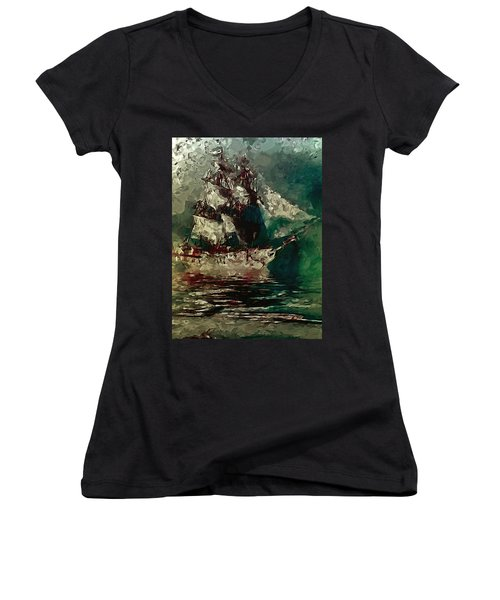 Return Of The Flying Dutchman Women's V-Neck