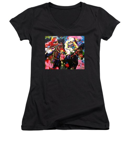 Ride To Glory Women's V-Neck (Athletic Fit)