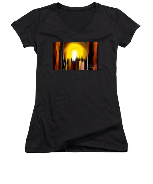 Right Way Women's V-Neck T-Shirt (Junior Cut) by Rushan Ruzaick