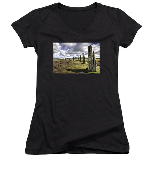 Ring Of Brodgar Women's V-Neck T-Shirt