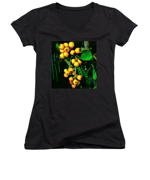 Ripe Loquats Women's V-Neck (Athletic Fit)