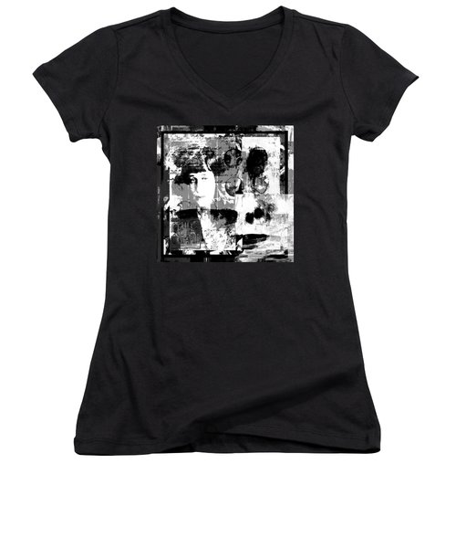 Women's V-Neck T-Shirt (Junior Cut) featuring the photograph Rise Above And Write  by Danica Radman