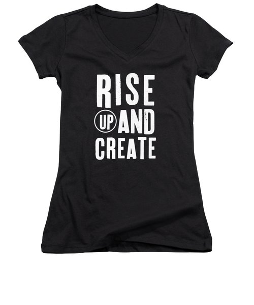 Rise Up And Create- Art By Linda Woods Women's V-Neck