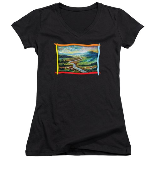 River In The Valley Women's V-Neck (Athletic Fit)