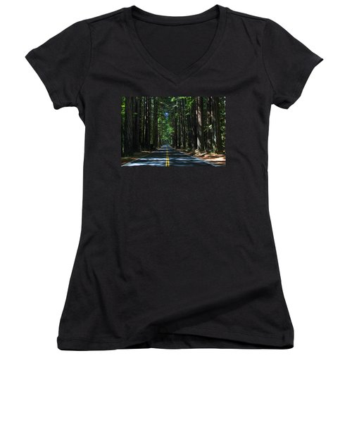 Road To Mendocino Women's V-Neck (Athletic Fit)