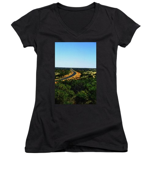 Road To Nowhere Women's V-Neck (Athletic Fit)