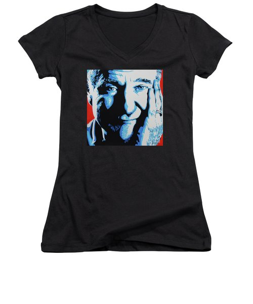 Robin Williams. Women's V-Neck (Athletic Fit)