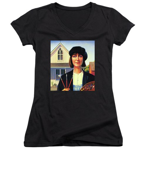 Robin Wood Self-portrait Women's V-Neck