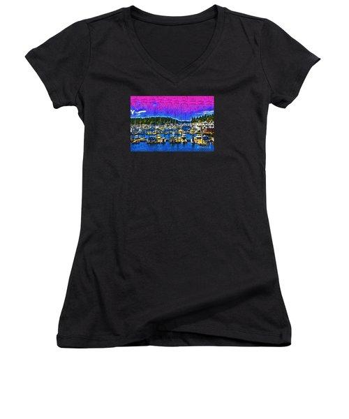 Roche Harbor 1 Women's V-Neck T-Shirt
