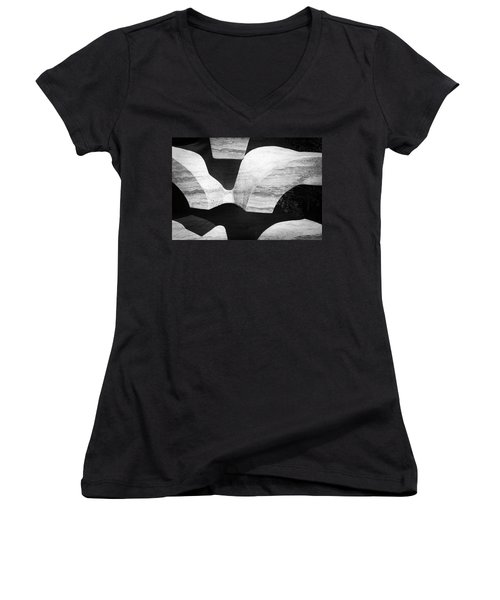 Rock And Shadow Women's V-Neck (Athletic Fit)