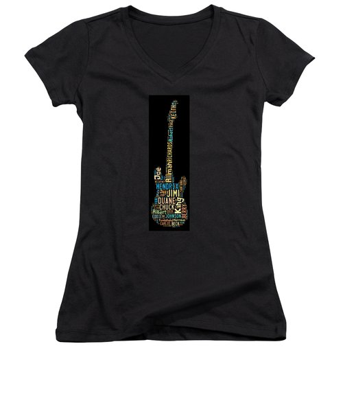 Rock Guitar Legends Women's V-Neck