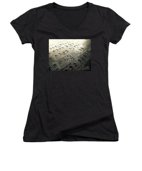 Rock Walk Women's V-Neck T-Shirt (Junior Cut) by Gem S Visionary