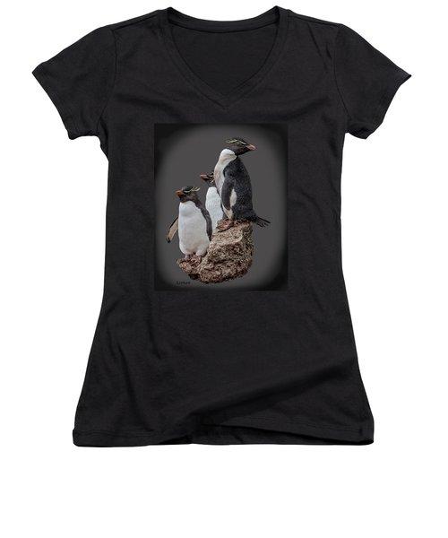 Rockhopper Penguins Women's V-Neck