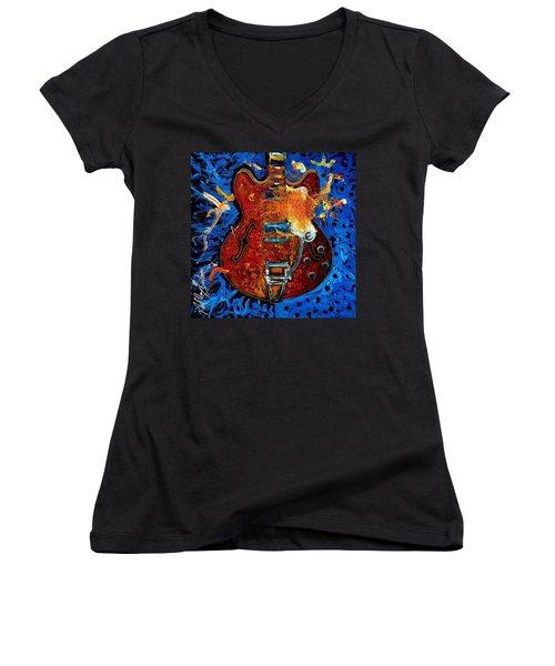 Rockin Epiphone Women's V-Neck T-Shirt