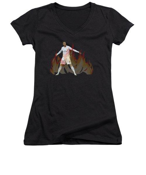 Ronaldo Women's V-Neck T-Shirt (Junior Cut)