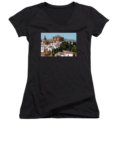 Ronda. Andalusia. Spain Women's V-Neck
