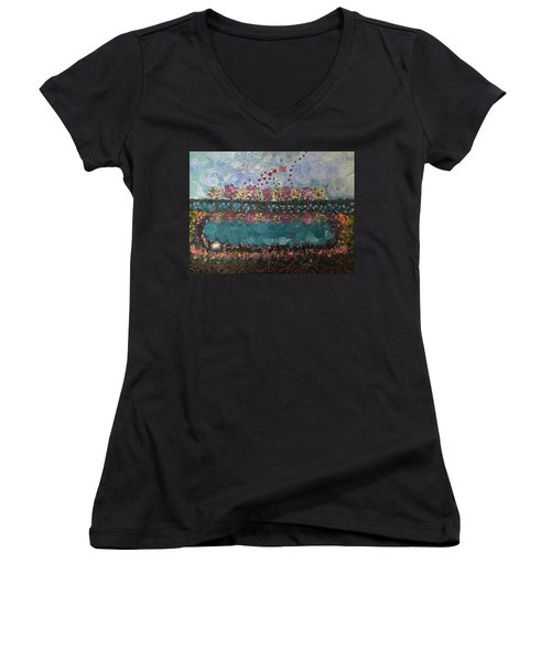 Roots And Wings Women's V-Neck