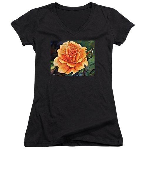 Rose 4_2017 Women's V-Neck T-Shirt
