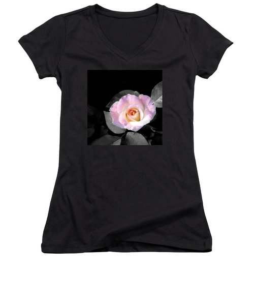 Rose Emergance Women's V-Neck T-Shirt
