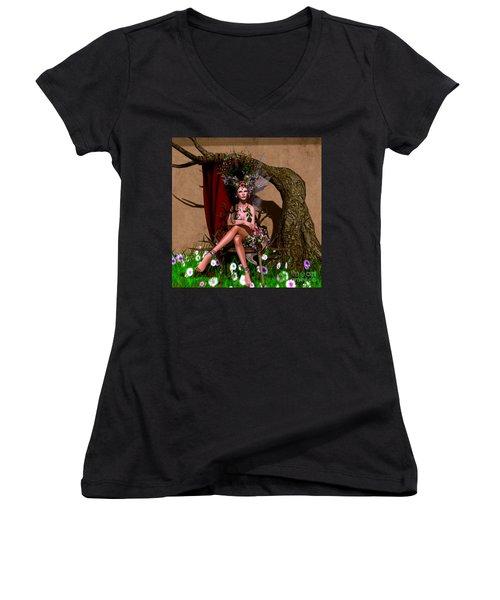 Rose Fae Women's V-Neck T-Shirt