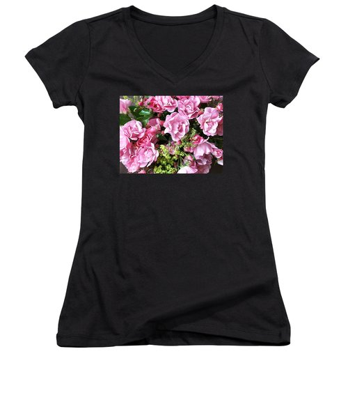 Roses From The Garden Women's V-Neck (Athletic Fit)