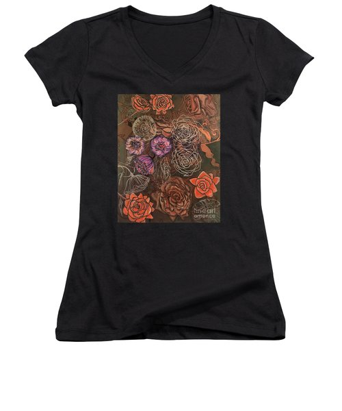 Roses In Time Women's V-Neck