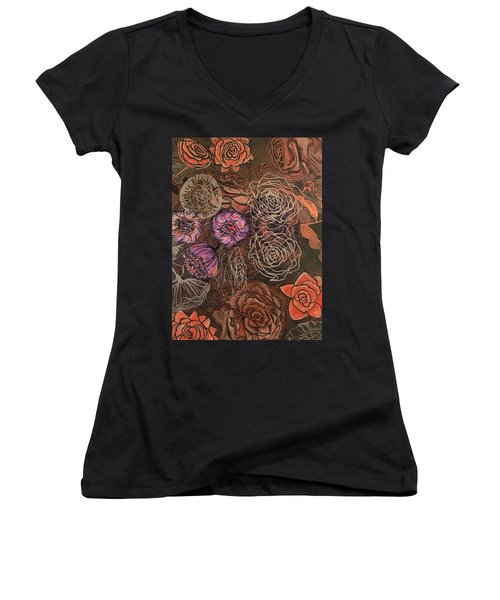 Roses In Time Women's V-Neck (Athletic Fit)