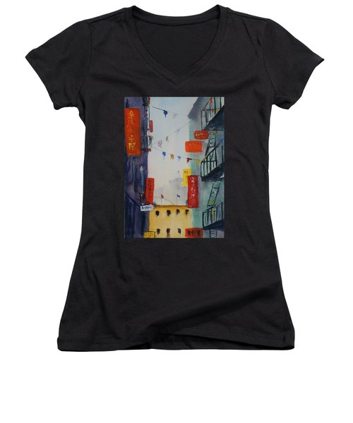 Ross Alley1 Women's V-Neck T-Shirt