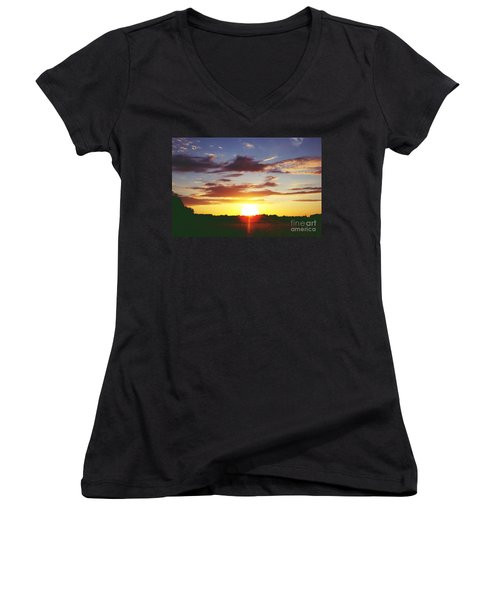 Rossington Sunset 2 Women's V-Neck (Athletic Fit)