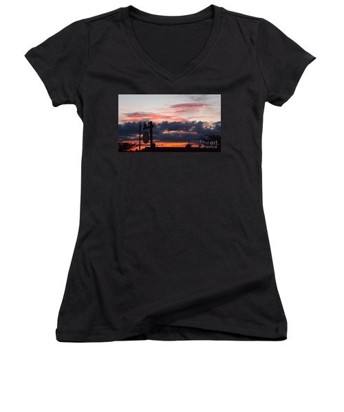 Rossington Sunset Women's V-Neck (Athletic Fit)