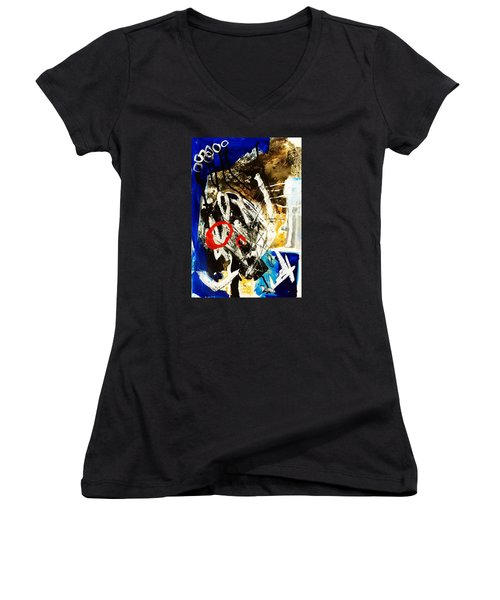 Round II Women's V-Neck T-Shirt (Junior Cut) by Helen Syron