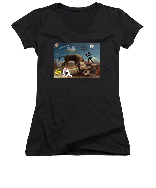Rousseau's Nightmare Women's V-Neck (Athletic Fit)