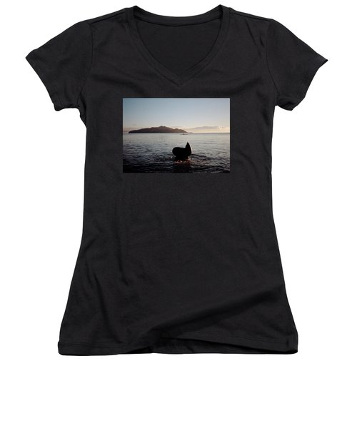 Rowing Off Sausalito, Ca Women's V-Neck