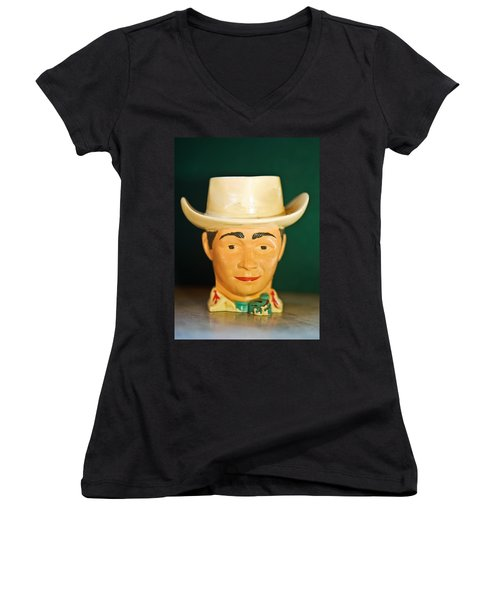 Roy Rogers Cup Women's V-Neck T-Shirt