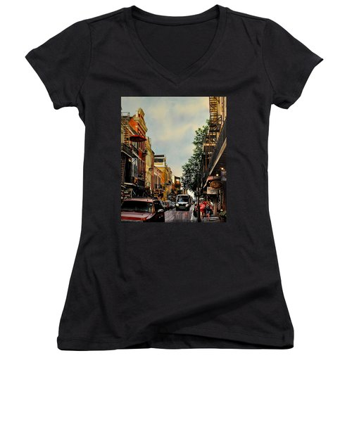 Royal Street Strole Women's V-Neck (Athletic Fit)