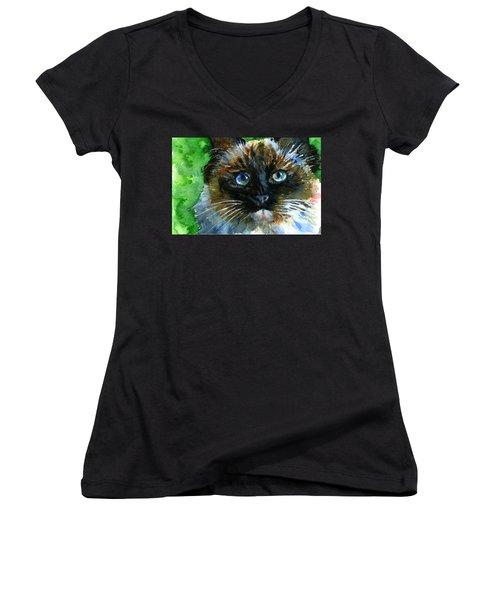 Ruffian II Women's V-Neck T-Shirt (Junior Cut) by John D Benson