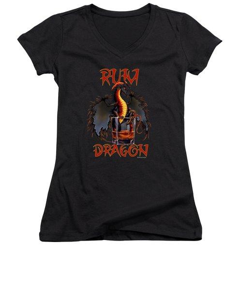 Rum Dragon Women's V-Neck