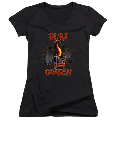 Rum Dragon Women's V-Neck (Athletic Fit)