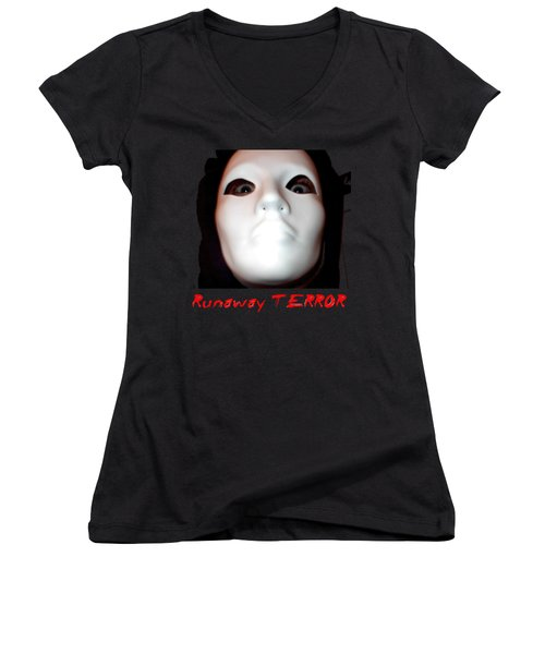 Runaway Terror 3 Women's V-Neck T-Shirt (Junior Cut)