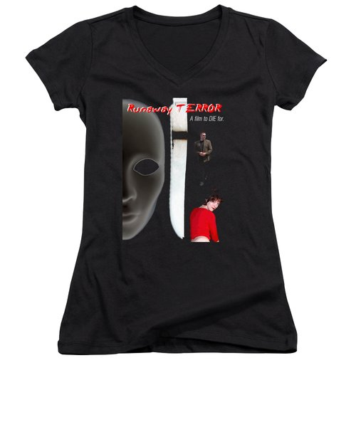 Runaway Terror 5 Women's V-Neck T-Shirt (Junior Cut)