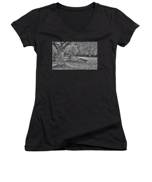 Rustic Women's V-Neck T-Shirt