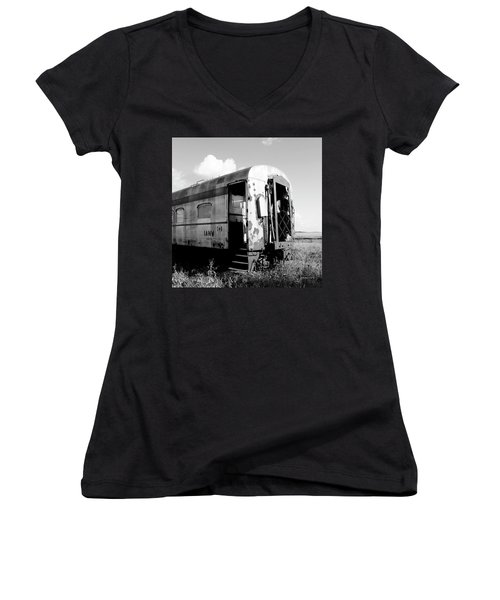 Rusting On The Rails Women's V-Neck (Athletic Fit)
