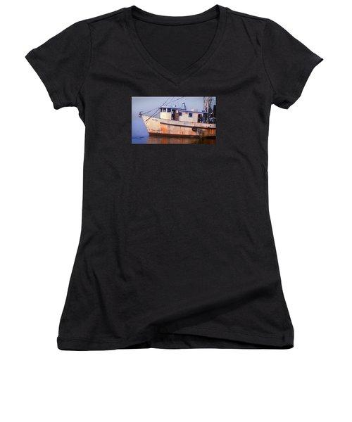 Rusty II And Crew Women's V-Neck T-Shirt (Junior Cut) by Laura Ragland