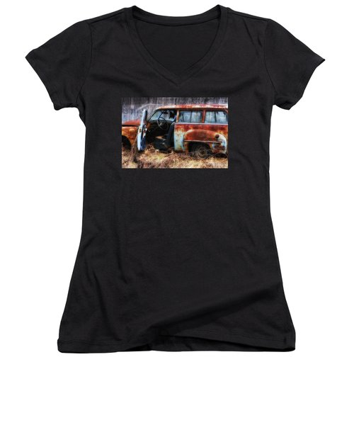 Rusty Station Wagon Women's V-Neck