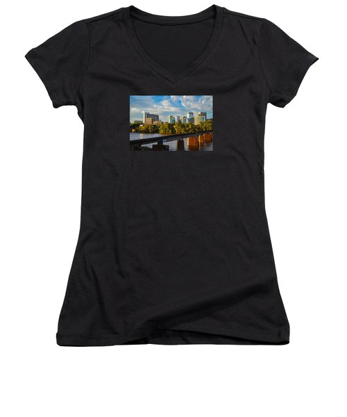 Rva Sunset Women's V-Neck (Athletic Fit)