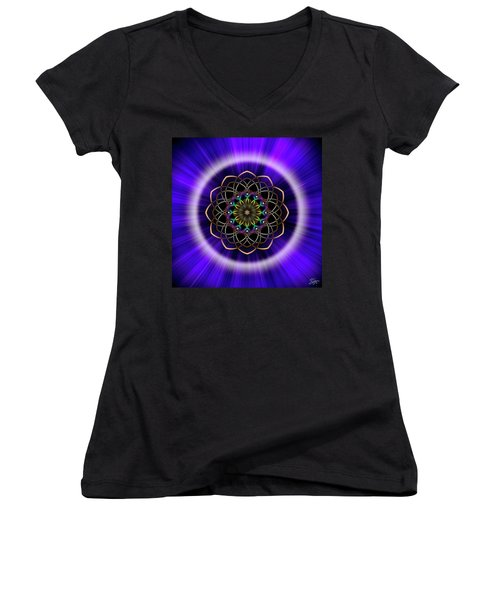 Sacred Geometry 242 Women's V-Neck