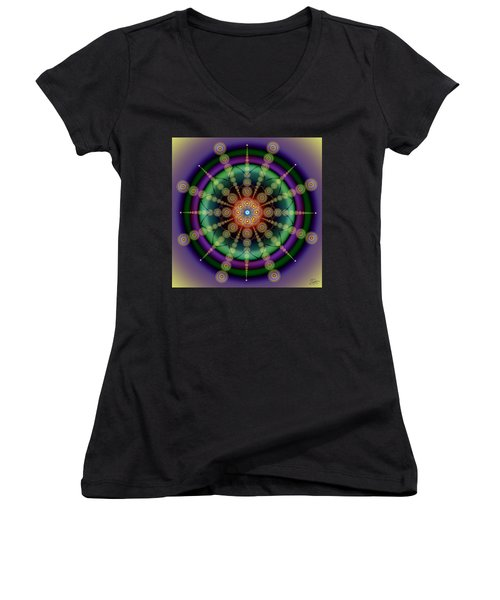 Sacred Geometry 652 Women's V-Neck