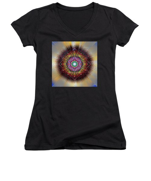 Sacred Geometry 657 Women's V-Neck (Athletic Fit)